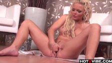 Super Hot Blonde gives herself a good fingeri