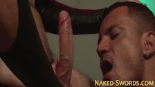 Kinky jock sucking cock