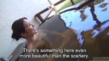 Subtitles Japanese mature Tae in outdoor onsen