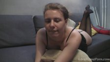 Sexy cleavage of an amateur solo webcam model