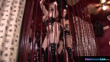 Lesbians Maria Bellucci and Mandy Bright getting down and dirty