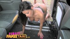 Female Fake Taxi Guy gets lucky with hot brunette