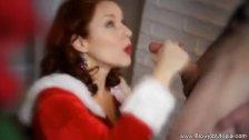 XXXmas Blowjob From Santas Helper