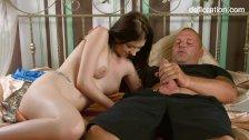 Shy virgin Anna italianka shows her virgin pussy