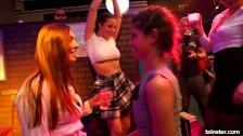 Bi pornstar clubbers fucks in public
