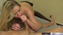 Mandy fucks stepbrother until he cums in her mouth