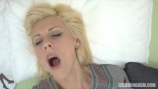 Young Blonde Fingering Her Tight Pussy