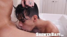 ShowerBait - Str8 Shower Dude Gets His Dick Used