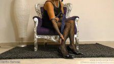 Nylon Mature FemDom Mistress Pantyhose Pumps MILF