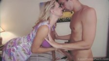 Gorgeous blonde milf seduces a young stud