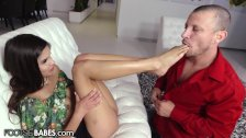 FootsieBabes Katya Shows her Soles and Rides Dick