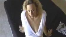 Horny blonde POV handjob
