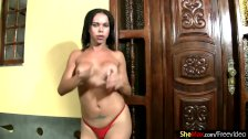 FULL movie of Perfect Latina tranny ass and boobs in bikini