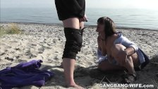 Slutwife loves to get pissed on by strangers