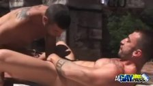 Muscled Men Having Blowjobs At The Park