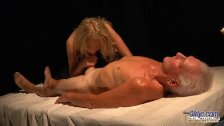 Seductive young babe sex with horny old man. Teen Fucked and cum on face - duration 7:07
