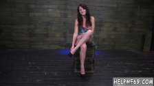Tied up bondage squirt Helpless teen Kaisey