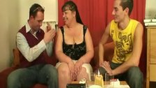 Interview with fat woman leads to threesome