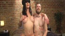 Hot shemale seduction and cumshot