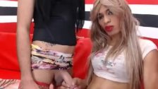 Two Exotic Tranny Babe Pleasuring Each Other