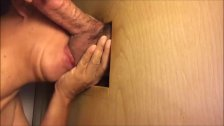 Blowing Super Fat Dick In The Gloryhole