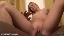Young Blonde Babe Cum Facial First Time Interracial Fuck and Cumshot