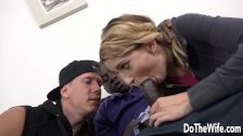 Sexy blonde wife ass fucked by BBC in front of husband