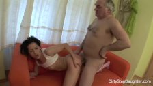 DiryStepDaughter  Sucking and Fucking My Tipsy Dads Cock