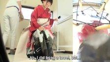 Subtitles Japanese kimono pee desperation fail
