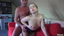 Old Young Porn Little Girl Fucked By Bald Grandpa in her wet perfect pussy