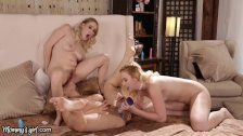 Stepmom DP'd by Naughty Squirting Daughters!