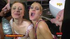 Pissing and hardcore pounding for sexy sluts - 666Bukkake