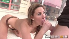 Gorgeous Tyra Moon gets a cumshot on her ass
