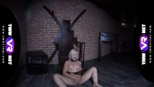 TmwVRnet -Anna Rey- Kinky blonde shows her tight body before BDSM sess