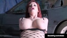 Horny Housewife Shanda Fay Fucks In Her Paint & Body Shop!