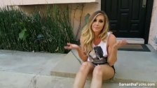 Samantha Saint tease photo shoot