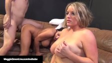 Big Boobed Maggie Green Fucks & Sucks in Steaming 6Way Orgy!