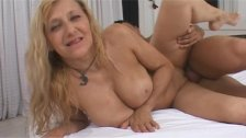Blonde mature gets penetrated by a big dick