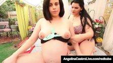 Latina BBW Angelina Castro & Curvy Virgo Peridot Rub Cunts!