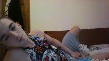 Michael Wyatt has solo fun in bed