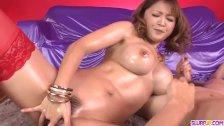 Busty Yuki Touma plays with cock in serious POV modes