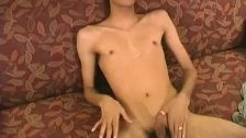 Big Dick Skinny Twink Zaki Jerking Himself Off