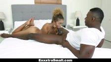 ExxxtraSmall - Funsized Ebony Fucked By Huge Cock
