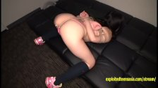 Petite Jav Teen Strips In Photo Booth And Outside Then Roped And Labia