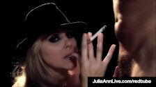 Elegant Mommy Julia Ann Smokes & Fucks A Big Cock On Stage!