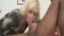 Blonde motherinlaw rides her daughter's man cock