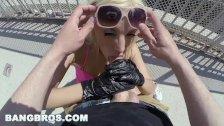 BANGBROS - Big Booty Pornstar Blondie Fesser Takes a Public Pounding