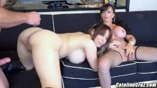 Busty threesome with Alyssa Lynn and Catalina Cruz live cam