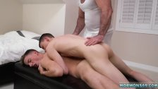 Young boy giving old man blowjob men to