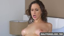 RealityKings -  Ashley Adams gets oiled up and shows off her Big Natural ti